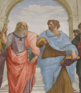 "Plato and Aristotle in Rafeal's ""School of Athens"""