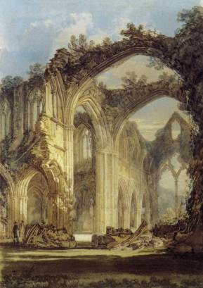 Tintern Abbey, JMW Turner, 1794. Wikimedia Commons.