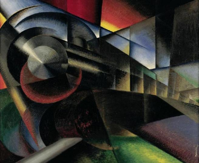 """Speeding Train (Treno in corsa),"" Ivo Pannaggi (1922)"