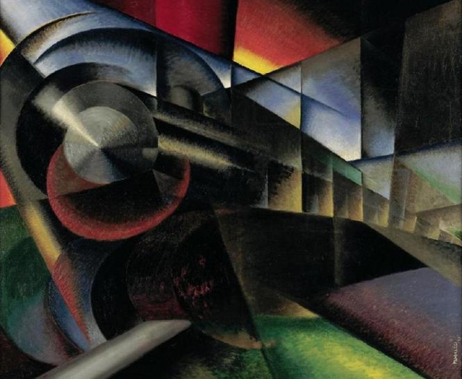 """Speeding Train (Treno in corsa),"" Ivo Pannaggi (1922)"