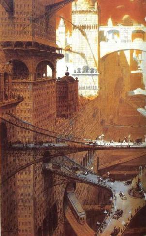 "William Robinson Leigh - '""Visionary City,"" 1908"